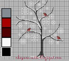 Chez Mounette: L'arbre aux rouges-gorges *freebie*