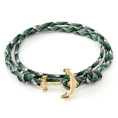 0243d5c2e80 14K Gold Emerald Camo Wrap Bracelet from Marz