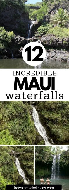 Planning a trip to Maui? You won't want to miss these 12 incredible Maui waterfalls. Some require a bit of hiking, but others are an easy walk. These are truly breathtaking and will be a highlight of your Maui vacation!