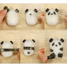 How to make panda onigiri. I know just the person who needs a few of these.