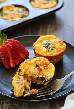 Petite Crust-less Quiche – perfect to make ahead for the week!