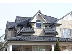 Green Metal Roofing - Ontario's Best and Top German Quality Roofing Systems for residential and commercial projects. Green Metal Roofing, Metal Roof Installation, Roofing Systems, Profile, House Styles, Black, Home Decor, User Profile, Decoration Home