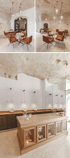 La Dimora di Metello, a hotel in Matera, Italy, combines historic cave-dwellings with contemporary design.