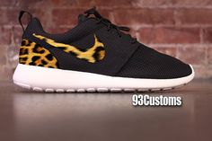 Nike Leopard Roshe Runs from 93 Customs. Saved to Things I want as gifts. Nike Shoes Cheap, Nike Free Shoes, Nike Shoes Outlet, Running Shoes Nike, Cheap Nike, Store Nike, Leopard Nikes, Nike Free Runners, Nike Basketball Shoes