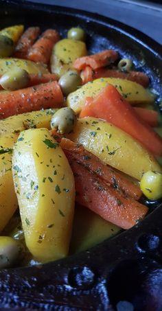 Tajine de poulet, pommes de terre et carottes - My tasty cuisine