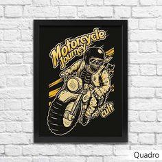 Quadro Moto Custom Decoração - Machine Cult - Kustom Shop | A loja das camisetas de carro e moto