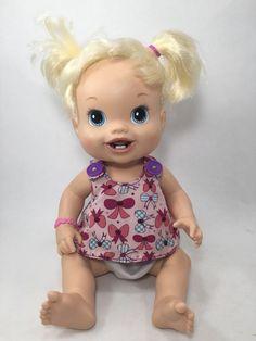 "2010 Hasbro Baby Alive Doll Blond Teething 2 First Teeth Wets 14"" 24 | eBay"