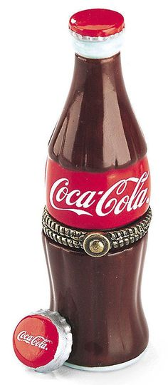 PHB Midwest of Cannon Falls Hinged Box Coca-Cola Bottle with Bottle Cap