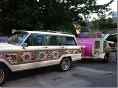 Vera Bradley Priscilla Pink - Jeep Wagoneer My dream car for years! Jeep Wagoneer, Jeep Wheels, Hot Wheels, My Dream Car, Dream Cars, Jeep Humor, Id Travel, Fantasy House