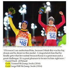 Get in Kasai! You are truly amazing! Silver Lining for Veteran Ski Jumper Noriaki Kasai in Sochi Noriaki Kasai, Silver Lining, Winter Olympics, Happy Life, Perspective, Skiing, Jumper, Have Fun, Yoga