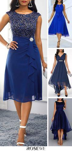 Hot Sale & Rhinestone Embellished Royal Blue High Waist Dress - How To Be Trendy Elegant Dresses, Pretty Dresses, Beautiful Dresses, Formal Dresses, Mother Of Groom Dresses, Mothers Dresses, Stylish Clothes For Women, Stylish Outfits, Blue Dresses For Women