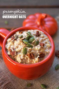 Overnight Pumpkin Oats