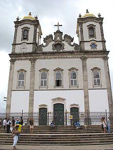 Salvador de Bahía - Iglesia de Nuestro Señor de Bonfim, donde se celebra el ritual del Lavado de las Escaleras o Lavado de Bonfim.