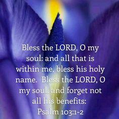 Psalm 103:1-2 KJV