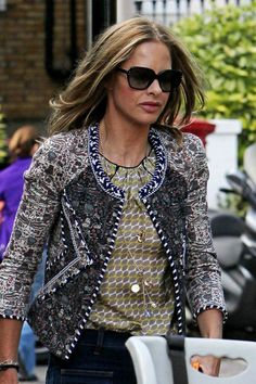 Trinny Woodall Oversized Sunglasses - Trinny Woodall topped off her chic ensemble with a pair of oversized sunnies.
