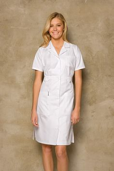NWT Dickies Medical Uniform Button Front WHITE Nurse's Uniform Dress in Clothing, Shoes & Accessories, Uniforms & Work Clothing, Scrubs White Nurse Dress, White Dress, Nylons, White Scrubs, Blouse Nylon, Medical Uniforms, Staff Uniforms, Healthcare Uniforms, Medical Scrubs
