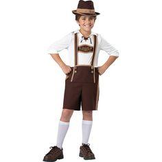 Kids Bavarian Costume, Boy's, Size: 10, Multicolor