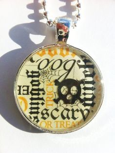 Halloween Pendant by the Whimsical Alchemists $10.