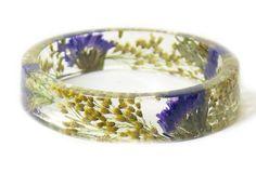 Bracelet Real Flowers Real Flower Jewelry by ModernFlowerChild