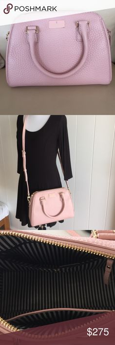 """NWT small pippa Kate Spade crossbody bag Color is """"pink bonnet."""" Has a detachable (and adjustable) crossbody/shoulder bag option or short handles. Zipped main compartment. Inside has 1 zipped pocket & 1 slip pocket. kate spade Bags Crossbody Bags"""
