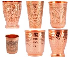 100% Pure Copper Handmade Hammered Embroidered Tumbler Water Glass Ayurveda Yoga health benefits Handmade In India 100% Genuine Products | Buy with confidence | 30 Days Return Policy Item Description Tumbler 4 To 3 Capacity/Volume: 250 ml Weight: 110 grams per Tumbler Tumbler 4 to 6 : Low White Blood Cells, White Blood Cell Count, Copper Utensils, Copper Cups, Heal Wounds Faster, Yoga Health Benefits, Ayurveda Yoga, Water Glass, Pure Copper