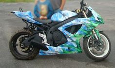 Custom motorcycle wrap.