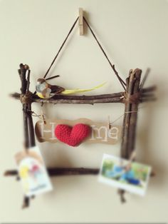 Square wooden wreath (birth series)