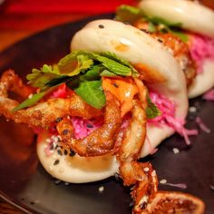 Bao down to this beauty from @junkasian! This super cool dining destination is dishing up delicious eats like this soft shell crab bao. The menu is vast with everything from pork belly to tofu, bubble tea cocktails and killer curries. This one is definitely worth checking out! #junkasian #junksouthbank