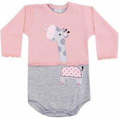 Body Bebê Menina Girafinha - Patimini :: 764 Kids | Roupa bebê e infantil