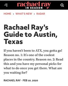 """Saxon Pub on Instagram: """"Thank you Rachael Ray and Rachael Ray In Season Magazine for supporting the city of Austin and our vibrant live music scene! Big thanks for…"""""""