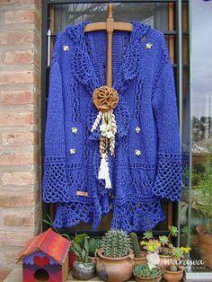 Crochet Wrap Pattern, Crochet Coat, Crochet Cardigan, Crochet Clothes, Crochet Lace, Knitting Patterns, Warm Sweaters, Long Sweaters, Finger Crochet