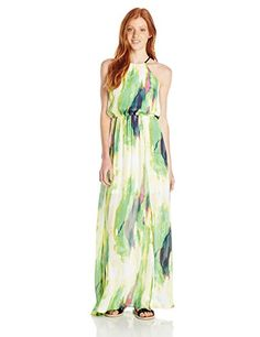 XOXO Juniors Printed Tie Dye Maxi Dress Yellow Medium *** Find out more about the great product at the image link.