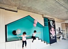 Un estudio de fotografía con una original e inspiradora zona de juegos para niños