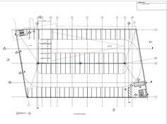 Car Parking AutoCAD Drawing 2 Plan of a multi-storey
