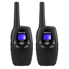 2 pcs Mini Walkie Talkie LCD Display | Portable Two Way Radio