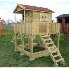 Domek dla dzieci Oliwia 2 z tarasem i piaskownicą