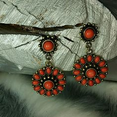 "Lovely Coral earring Lovely faux coral earring on gold metal! Pair these with you favorite bohemian outfit, bikini or jeans and a white shirt and you will be walking in style!!  Brand new! 2 1/4""long Jewelry Earrings"