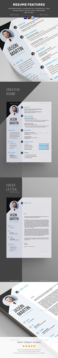 Resume - Resumes Stationery Download here: https://graphicriver.net/item/resume/19819560?ref=classicdesignp