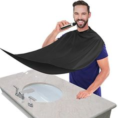 Honey Compact Waterproof Beard Shave Apron Solid Color Men Household Bathroom Beard Trimming Apron Hair Shave Apron Styling Tools Caps, Foils & Wraps Hair Care & Styling