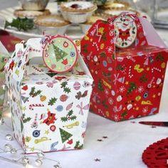 Set Of 3 Panettone Christmas Carnival Gift Boxes With Tags Christmas Gift Wrapping, Christmas Baking, Christmas Presents, London Christmas, Christmas Sale, Christmas Design, Cupcake Gift, Cupcake Boxes, Christmas Carnival