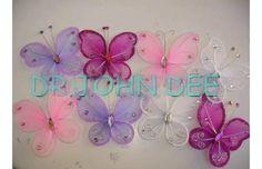 Souvenirs Set De 10 Mariposas En Tul 15 Años 9cm X 10cm