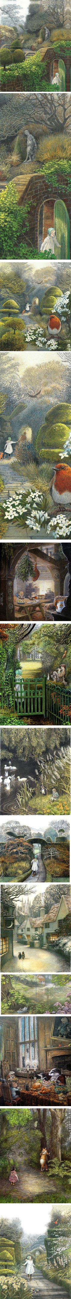 Inga Moore, illustrator Wind in the Willows, The Secret Garden