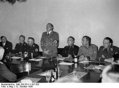 Berlin - Wilhelm Stuckart, Reinhard Heydrich, Heinrich Himmler, Hans Frank, Werner Best, Kurt Daluege and Wolf Heinrich Graf von Helldorf. - October 1936