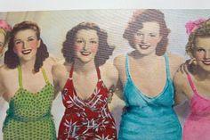 Πίνακας Show Girls Led 30x90 Ψηφιακή εκτύπωση σε καμβά μία εντυπωσιακή εικόνα από προκλητικές κυρίες της δεκαετίας του '60, με τα μικρά led λαμπάκια να φωτίζουν και διακοσμούν. Μπαταρία 2xAA (L)R6 1.5V (εκτός). Showgirls, Swimwear, Fashion, Bathing Suits, Moda, Swimsuits, Fashion Styles, Fashion Illustrations, Costumes