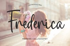 Frederica is a beautiful calligraphy font. It features a varying baseline, smooth lines, gorgeous glyphs and stunning alternates. Fall in...