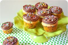 Funfetti Cupcakes with Milk Chocolate Frosting