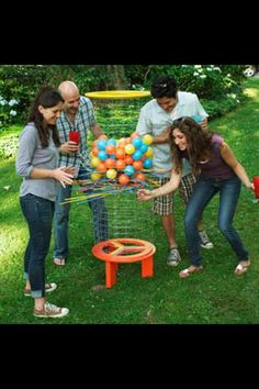 Yard game. Kerplunk on steroids! For outdoors.