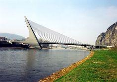 The bridge in Ústí nad Labem (North Bohemia), Czechia Prague Czech Republic, Bridge Design, Over The River, Central Europe, Pedestrian, Bro, Woods, Germany, Wanderlust