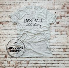 Baseball All day unisex tee – 3Buggas Design