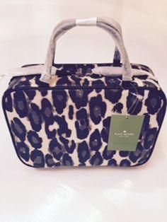 AUTHENTIC (NWT) Kate Spade Cedar Street Leopard Manuela LARGE Cosmetic Bag - $100